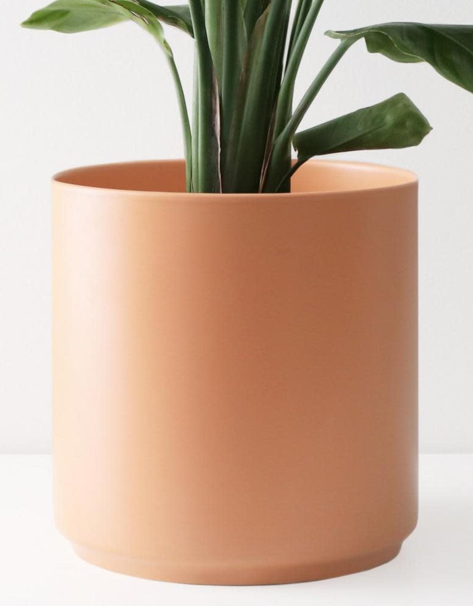 "Peach & Pebble 10"" Modern Ceramic Planter"