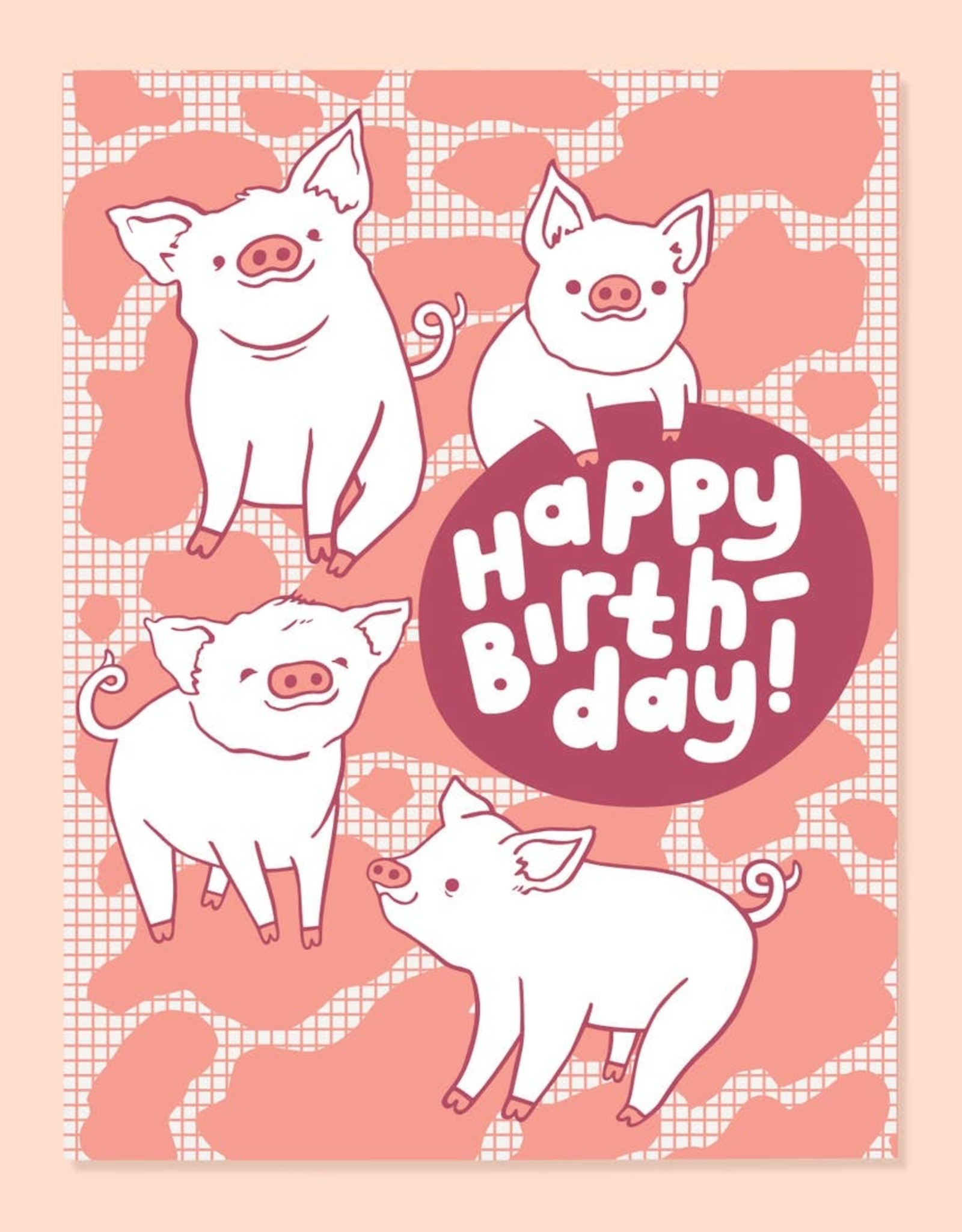 The Good Twin The Good Twin   Piggy Bday Card