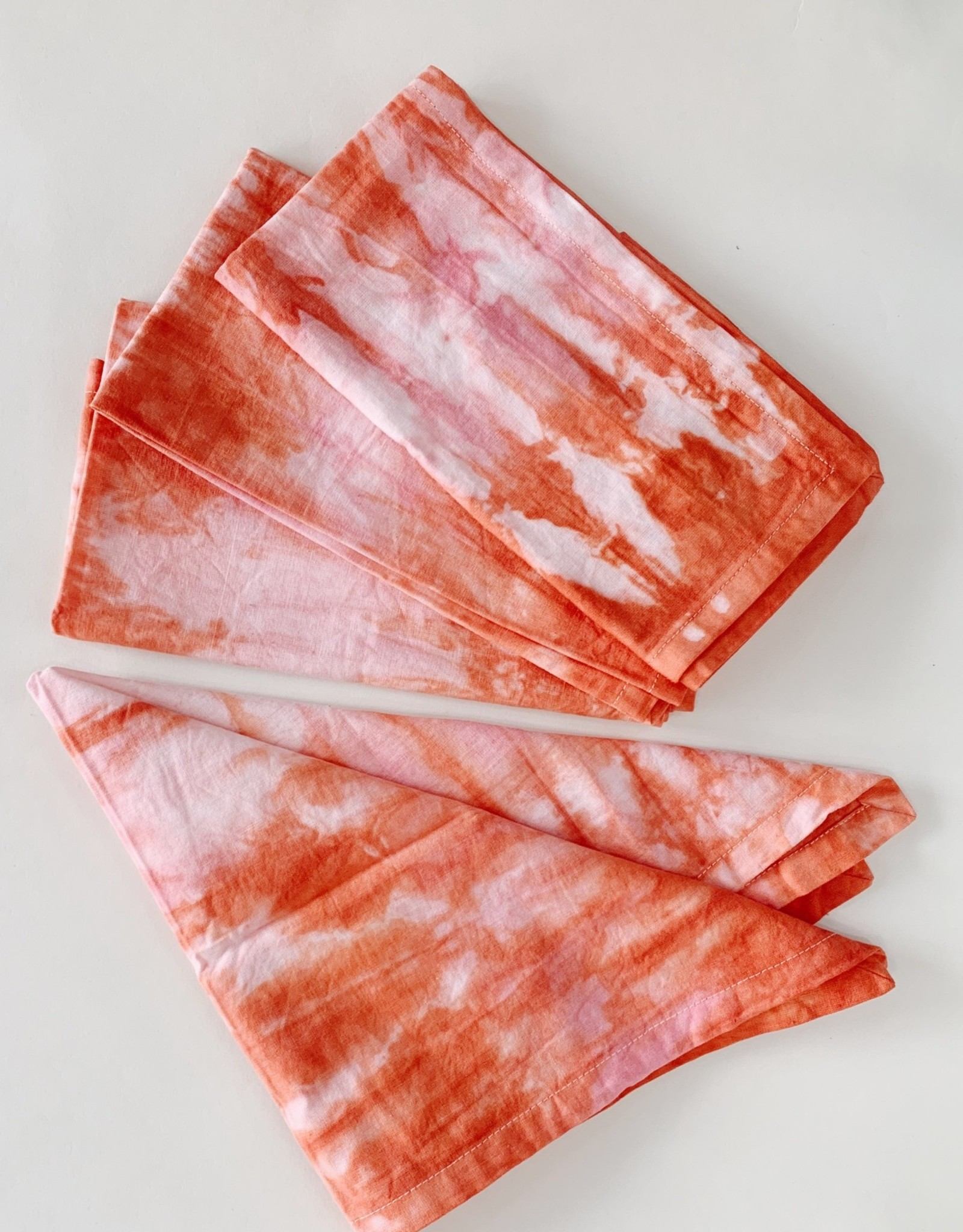Red Cherry Red Cherry | Tie Dye Napkins (Set of 4) Pink