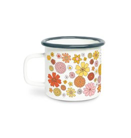 Talking Out of Turn Flower Power Campfire Mug