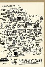 People I've Loved People I've Loved | Brooklyn Map Card
