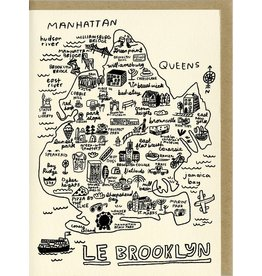 People I've Loved People I've Loved | Brooklyn Map Card