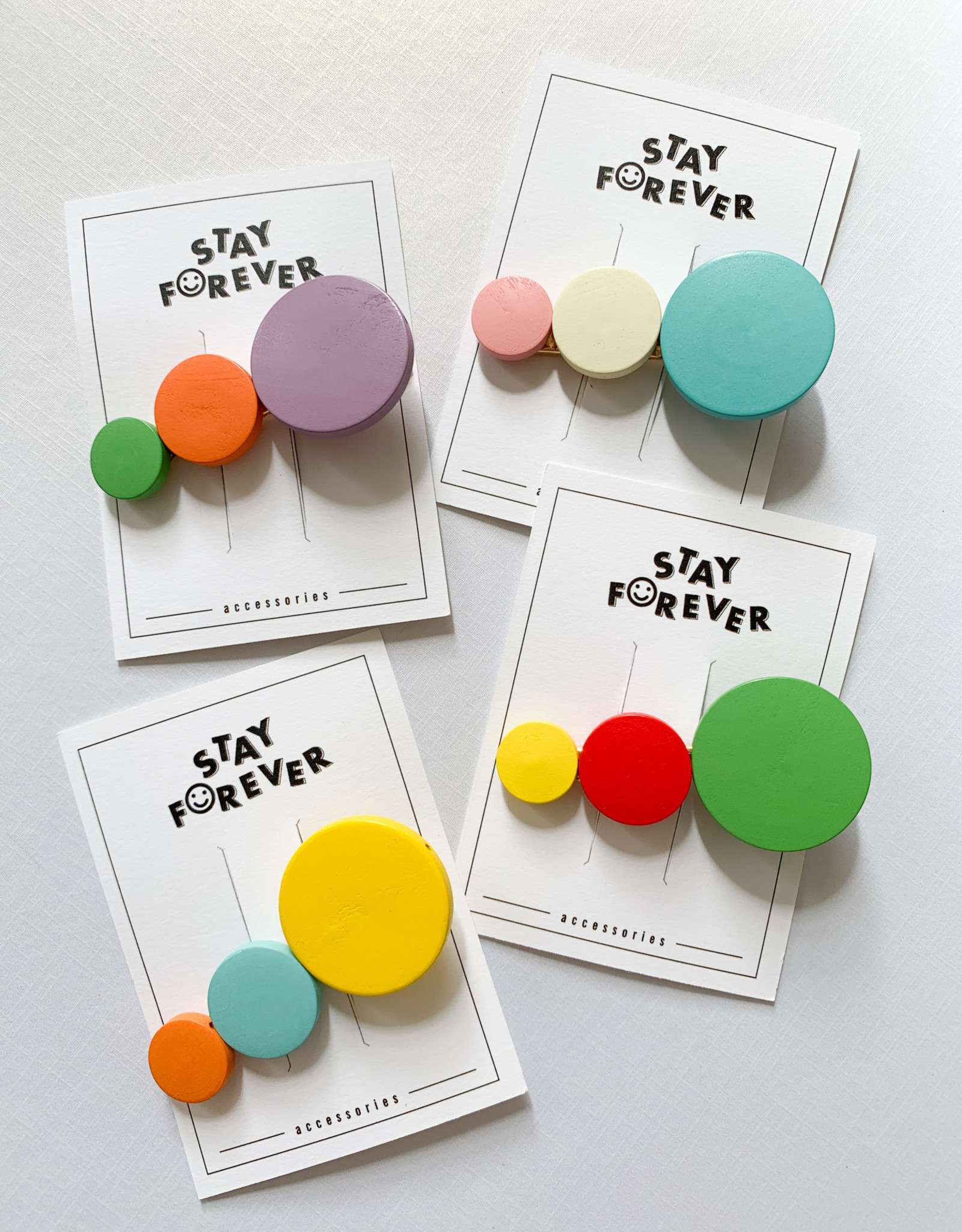 Candy Color Wooden Clips