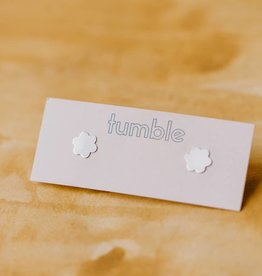 Tumble Silver Daisy Studs