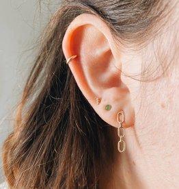 Tumble Gold Cuff Earring