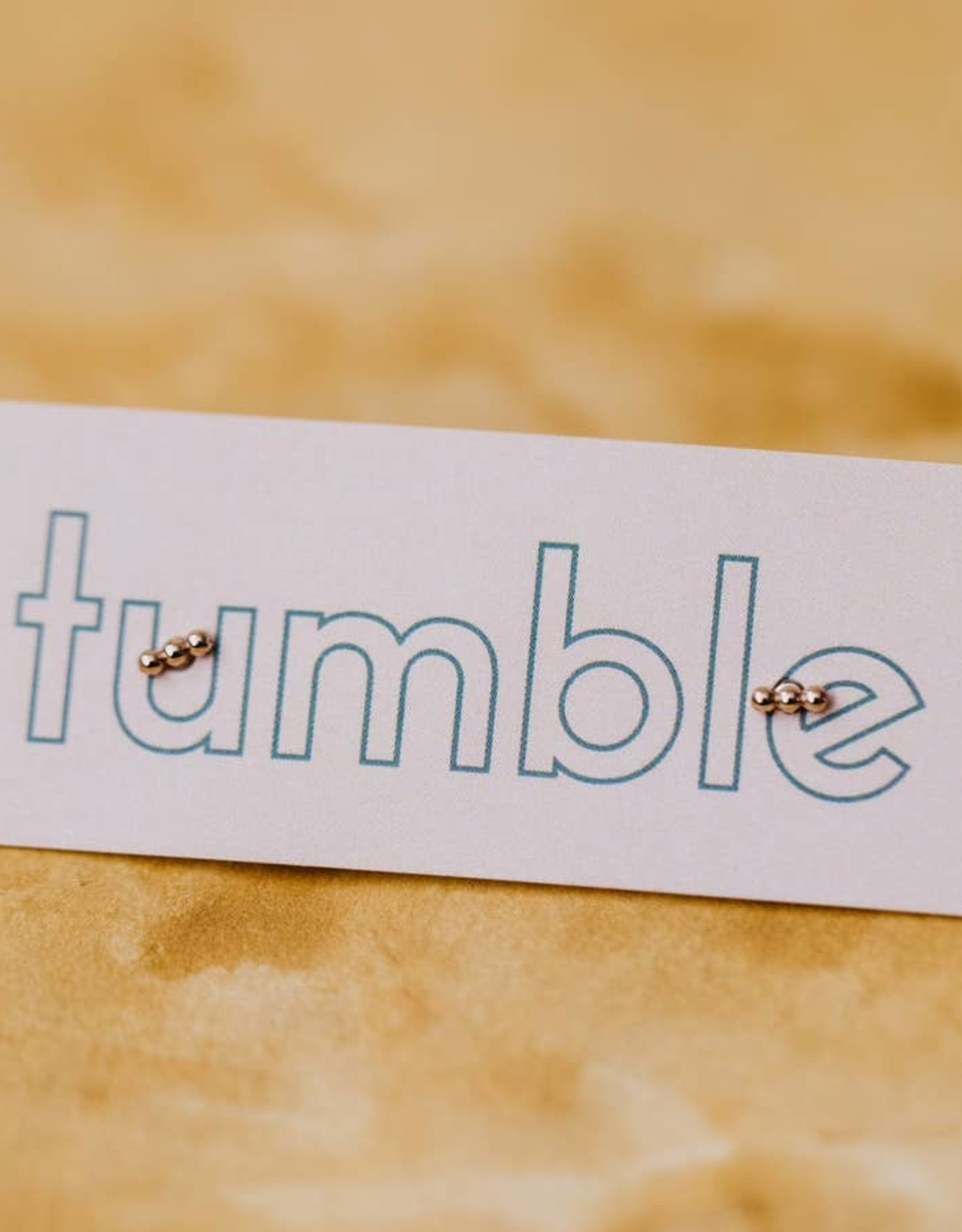 Tumble Tumble | Gold Three Bead  Studs