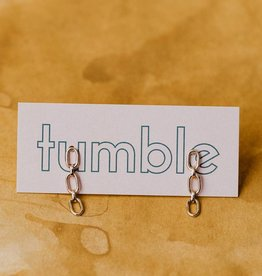 Tumble Silver Chain Link Earrings
