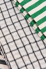 Stripe Green Tea Towels (Set of 3)