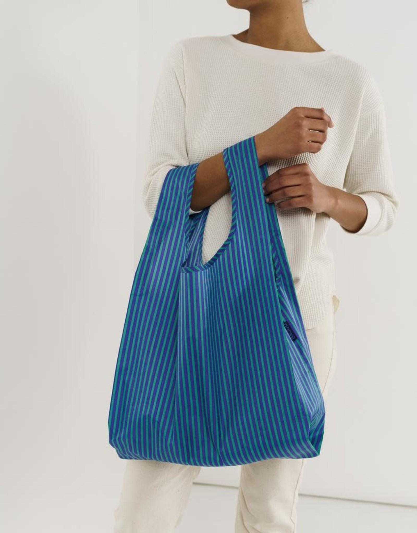 Baggu Baggu | Standard - Cobalt and Jade Stripe