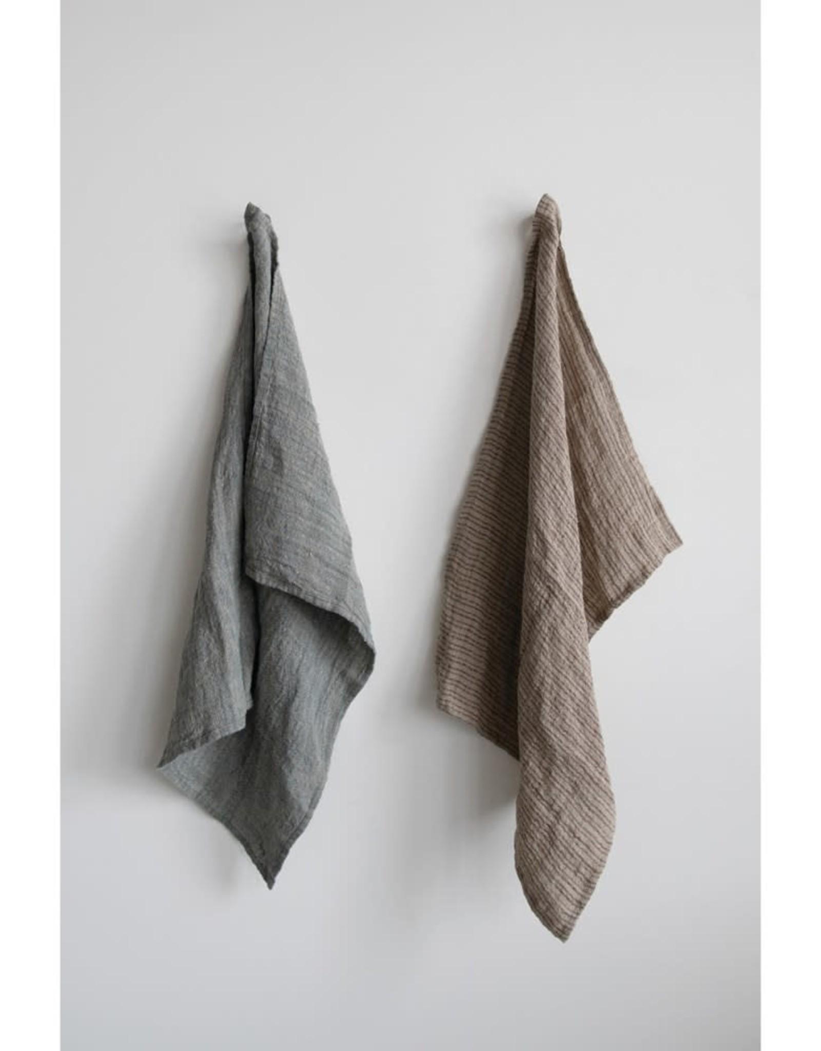 Striped Linen Tea Towel
