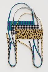 Baggu Baggu - Fabric Tie Mask Set (Gingham / Leopard / Stripes)