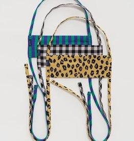 Baggu Baggu - Fabric Tie Mask Set (Gingham / Leopard / Stripes) )
