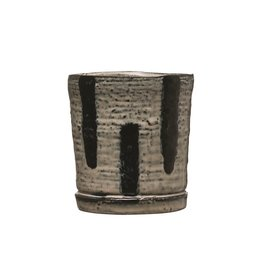 "Small Swish Black Navy Pot 3.25"""