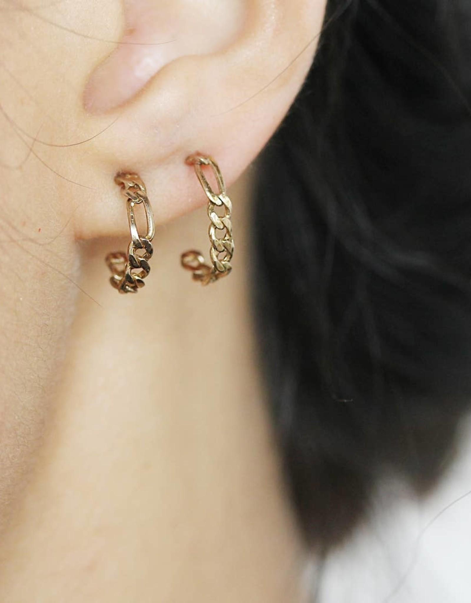 Upper Metal Class Upper Metal Class | Kindred Small Link Hoop Earrings - Bronze