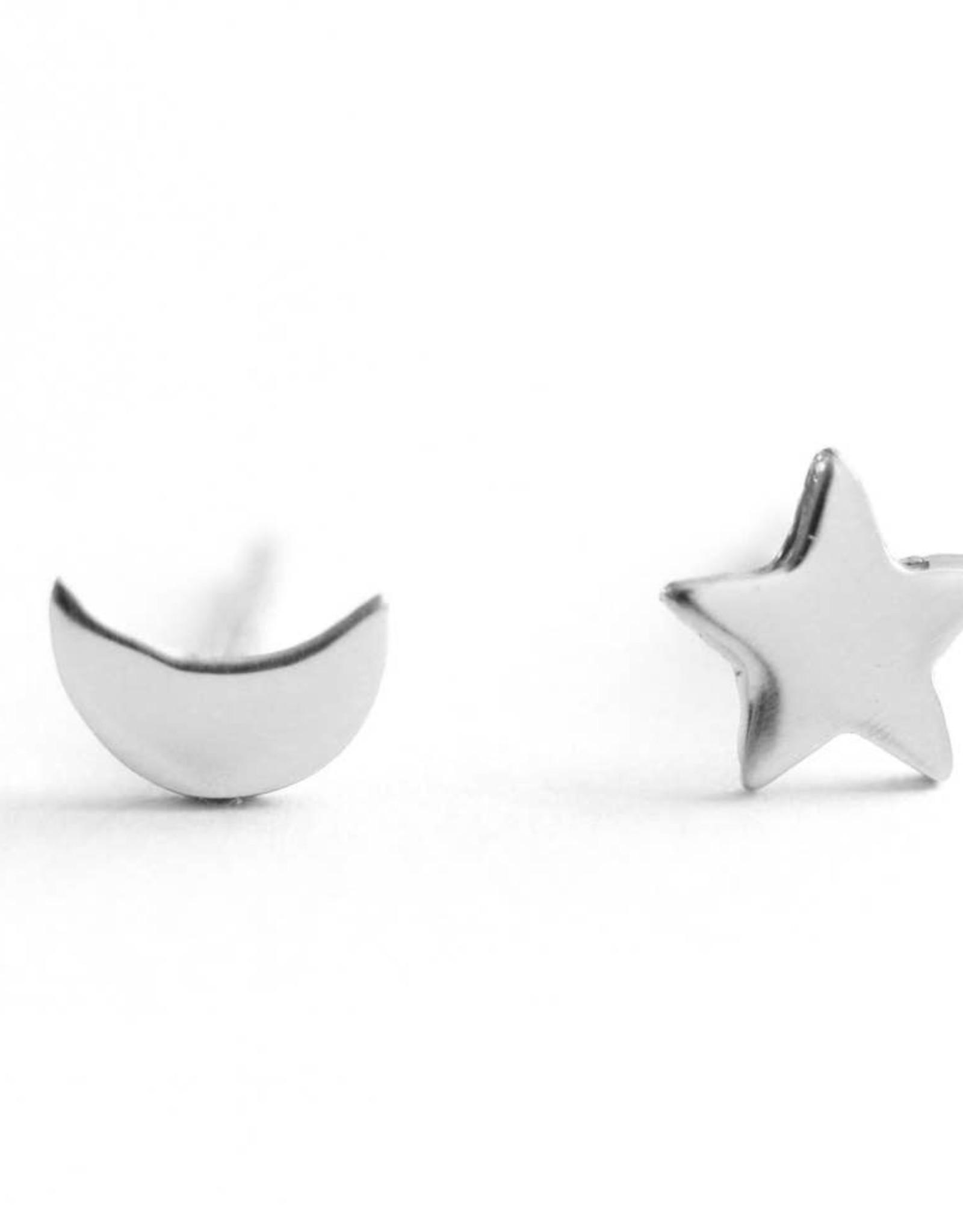 Upper Metal Class Upper Metal Class | Moon Star Earrings - Sterling Silver