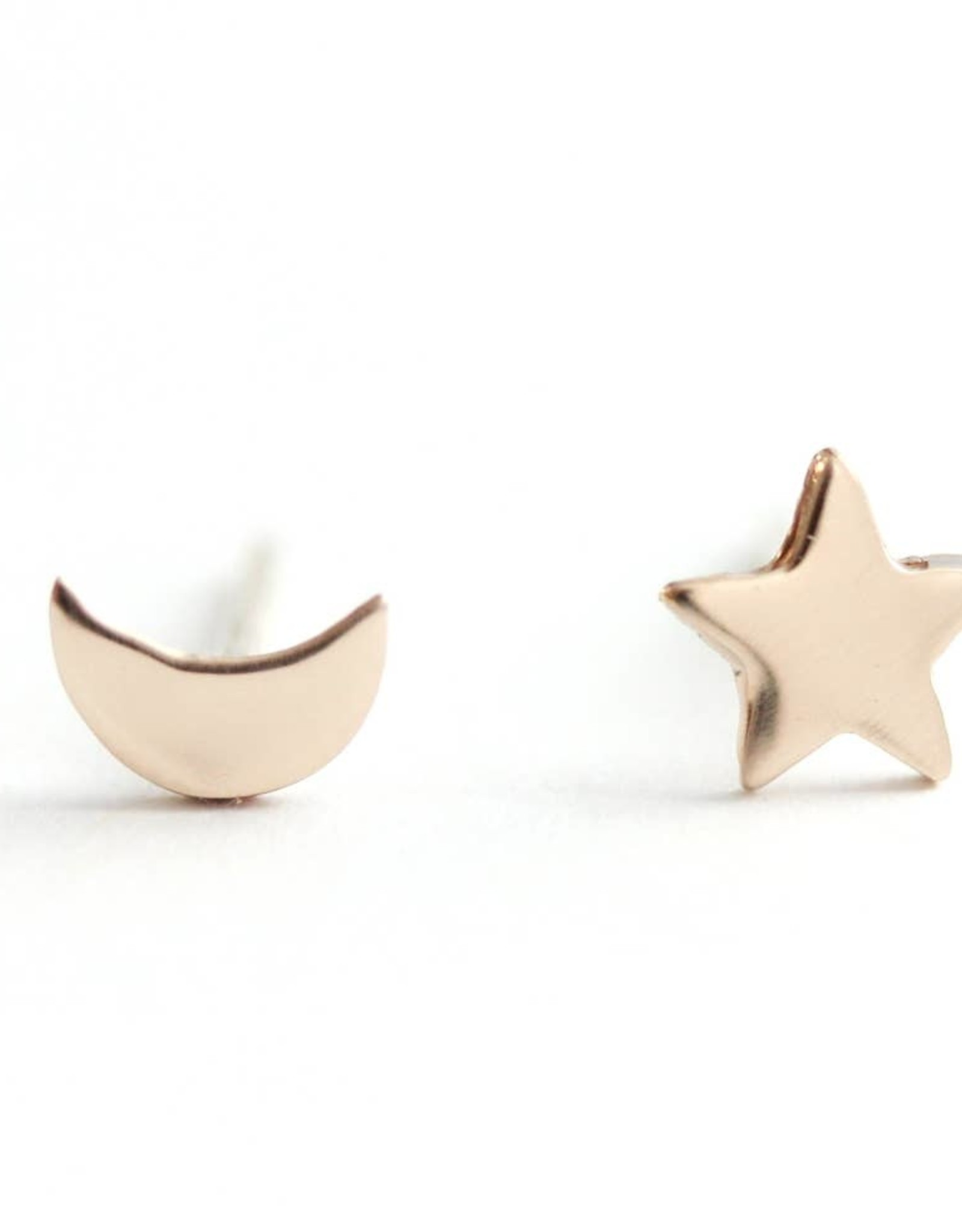 Upper Metal Class Upper Metal Class | Moon Star Earrings - Full Bronze