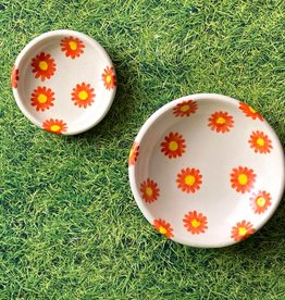 A WAYS AWAY A Ways Away | Trinket Ring Dish - Orange Daisy Flower