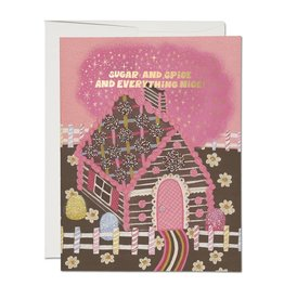 Red Cap Gingerbread House Boxed Set of 8