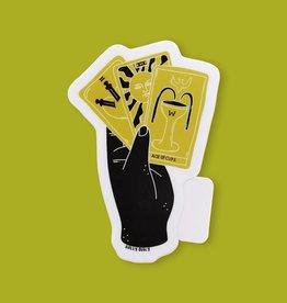 Holly Oddly Hand and Tarot Vinyl Sticker