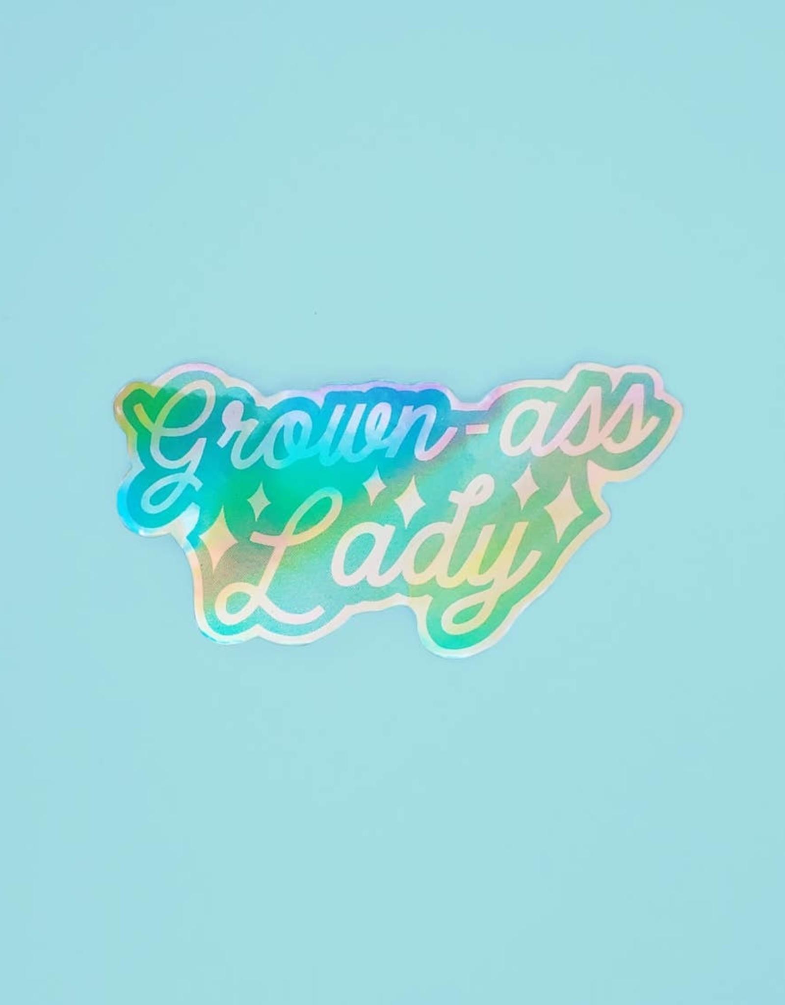 Holly Oddly Holly Oddly | Grown Ass Lady Vinyl Sticker