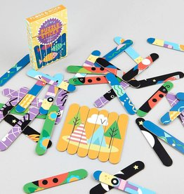 Floss and Rock Puzzle Sticks Card Game