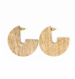Rover & Kin Wood Disc Earrings