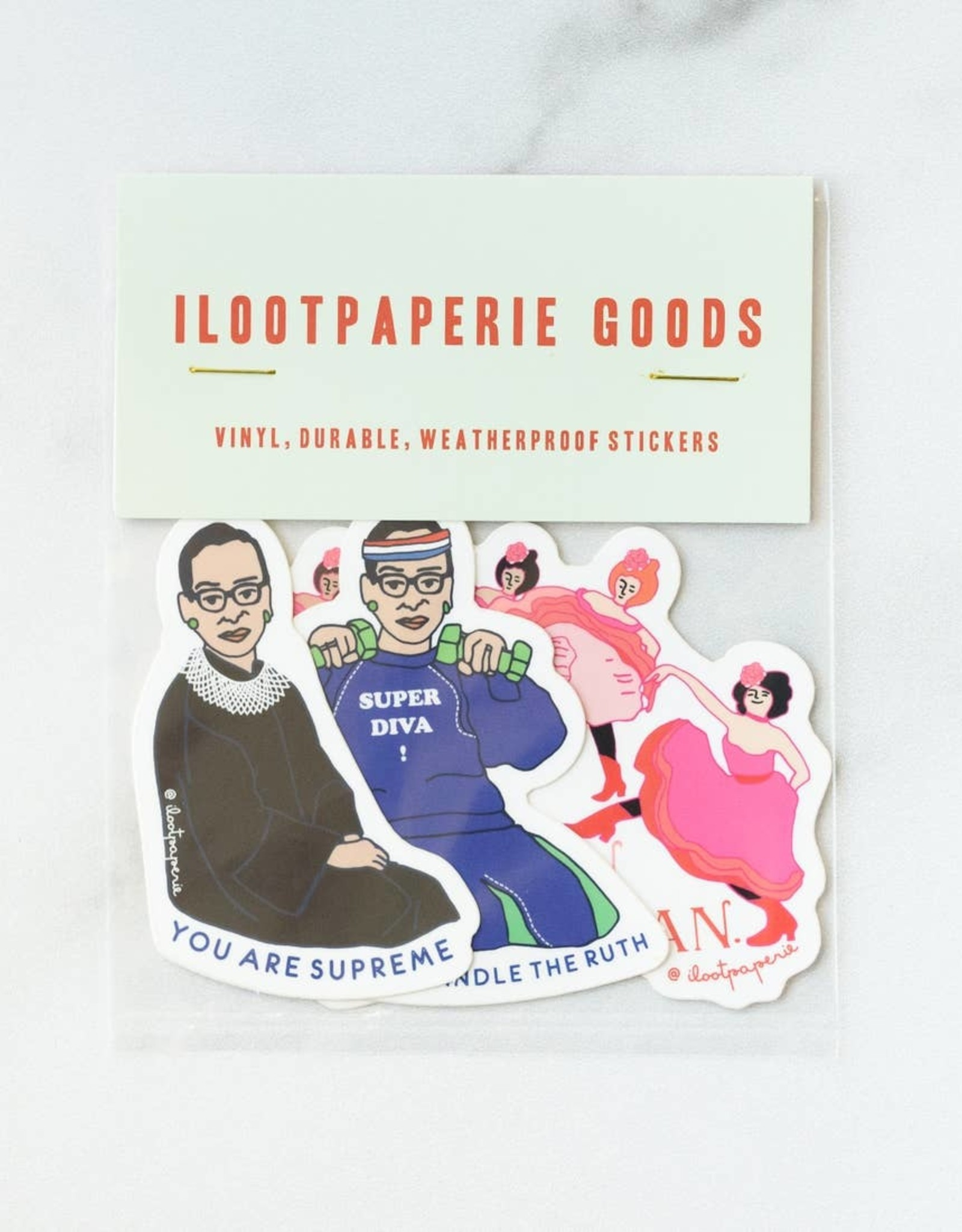 ilootpaperie ilootpaperie | RBG Girls Can Can  Stickers Pack of 3