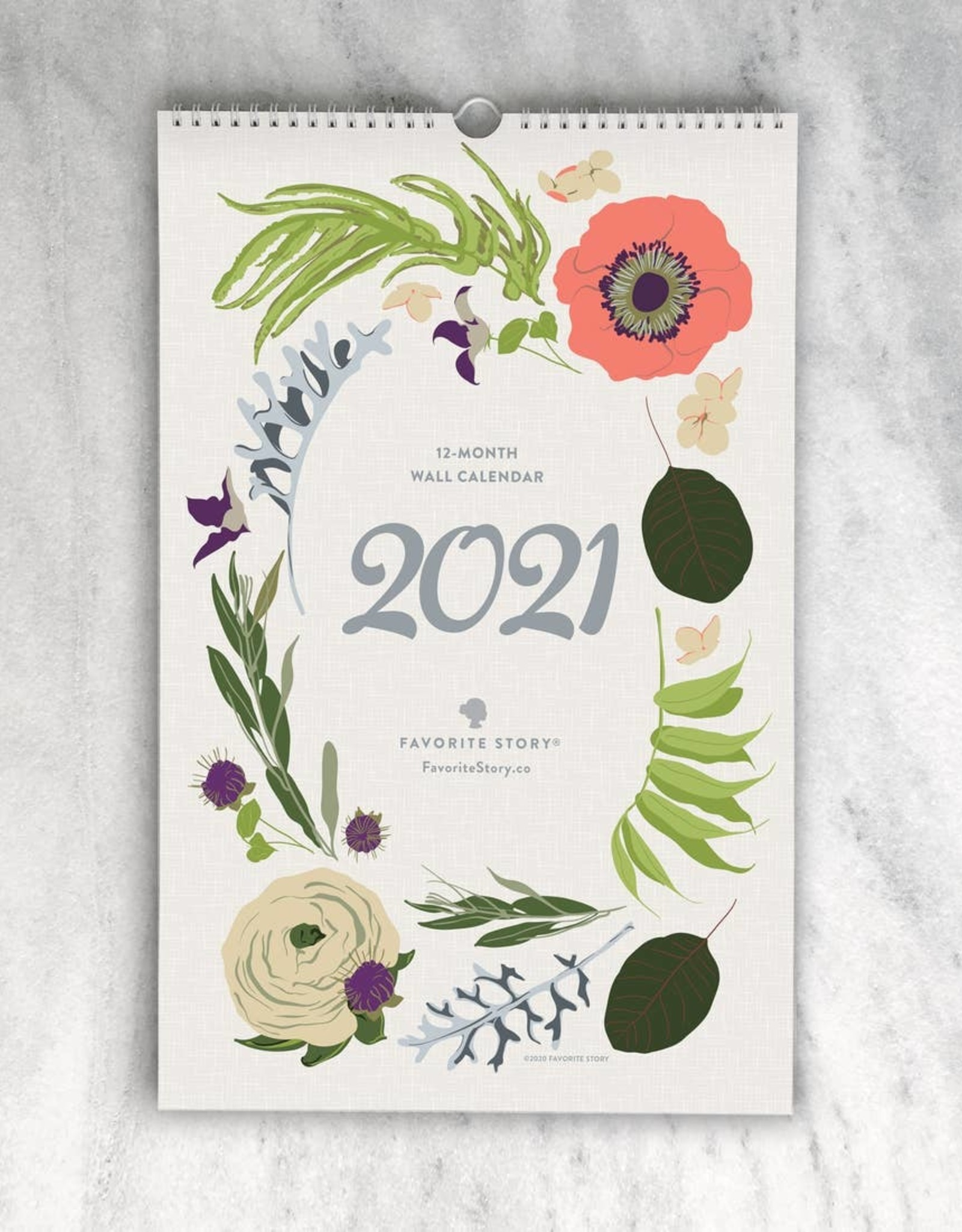 Favorite Story Favorite Story | 2021 Wildflower Monthly Wall Calendar