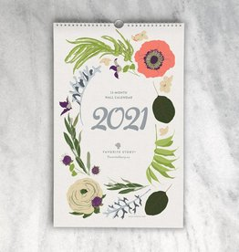 Favorite Story 2021 Wildflower Monthly Wall Calendar