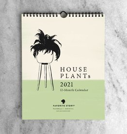 Favorite Story 2021 House Plants Monthly Wall Calendar
