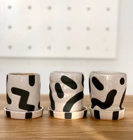 KBClay KBClay | Small Black & White Party Pot