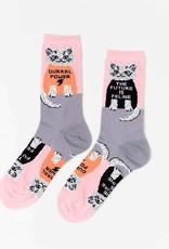 Yellow Owl Workshop Yellow Owl Workshop | Future is Feline Crew Socks (W)