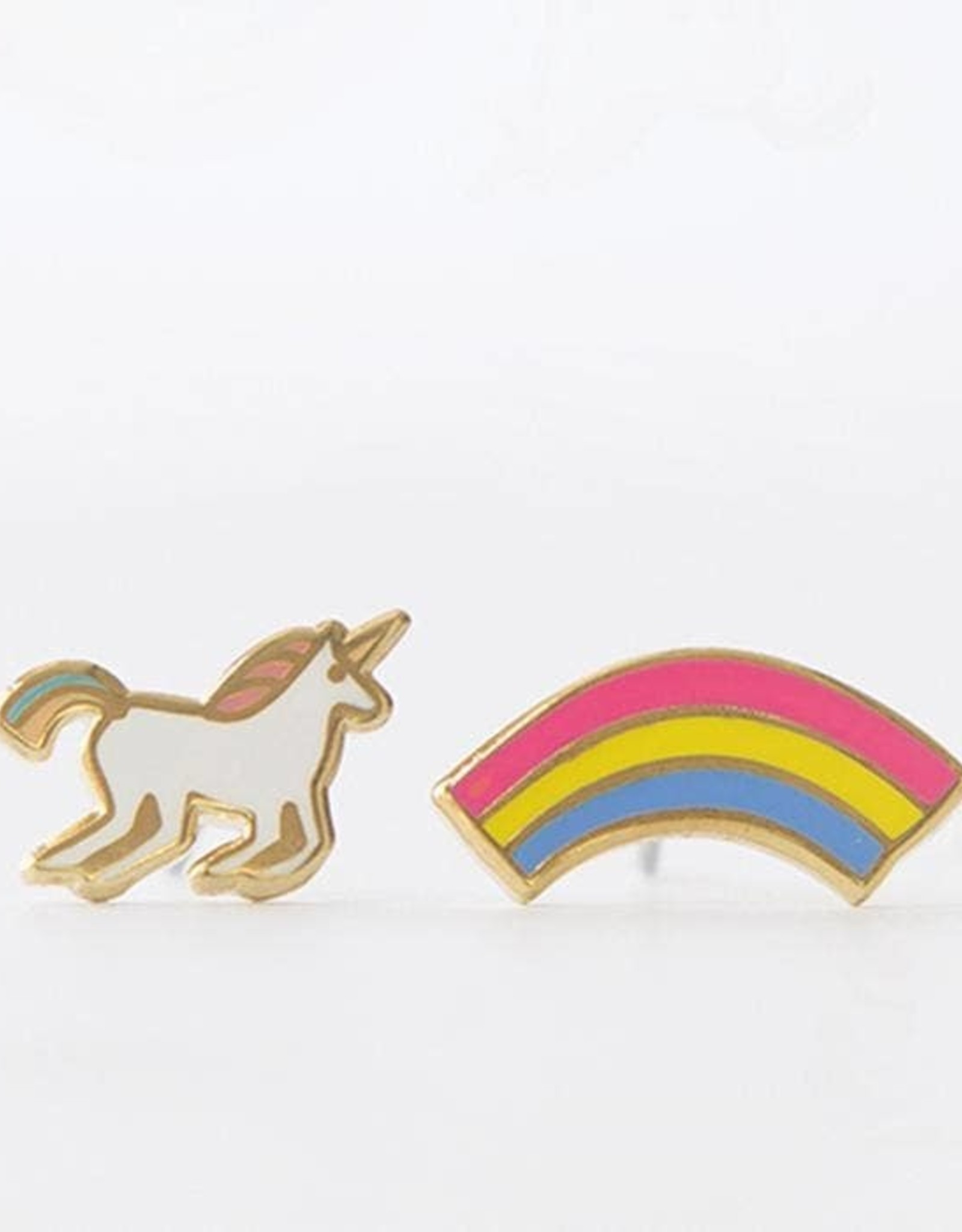 Yellow Owl Workshop Yellow Owl Workshop | Unicorn and Rainbow Earrings