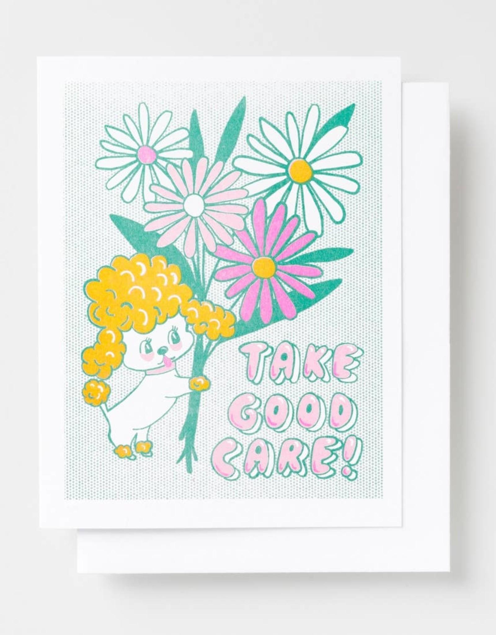 Yellow Owl Workshop Yellow Owl Workshop | Take Good Care Risograph Card
