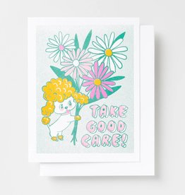 Yellow Owl Workshop Yellow Owl Workshop | Take Good Care Risograph Card