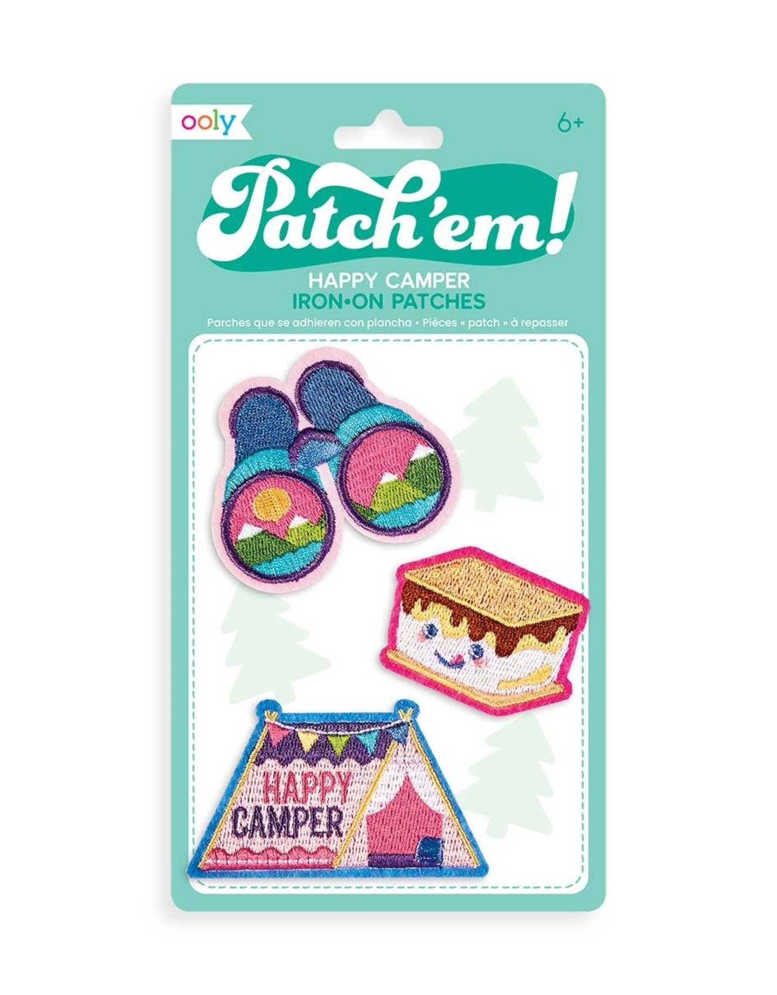 Ooly Ooly   Patch 'em Iron-on Patches: Happy Camper