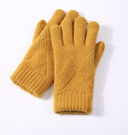 Knit Acrylic Touchscreen Gloves
