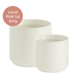 "7"" 10"" White Kendall Pot"