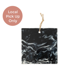 Square Black Marble Cheese Board