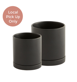"5.25-7.25"" Romey Pot Black"