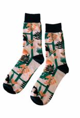 Plant Lady Grid Socks