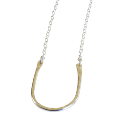 Metrix Jewelry Sterling Silver Hammered U Necklace