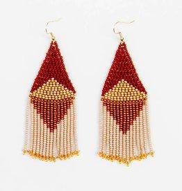Altiplano Graphic Fringe Beaded Earrings