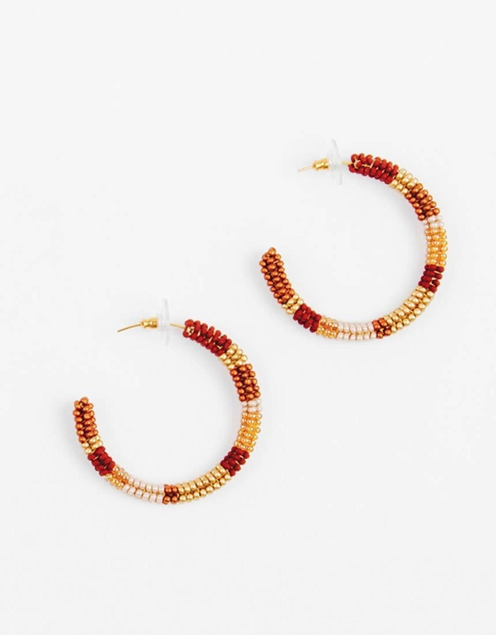 Altiplano Altiplano | Bronze Beaded Hoop Earrings