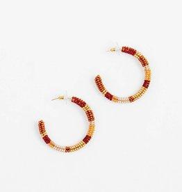 Altiplano Bronze Beaded Hoop Earrings