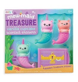 Ooly Mewmaid Treasure Scented Erasers - 4 PC Set