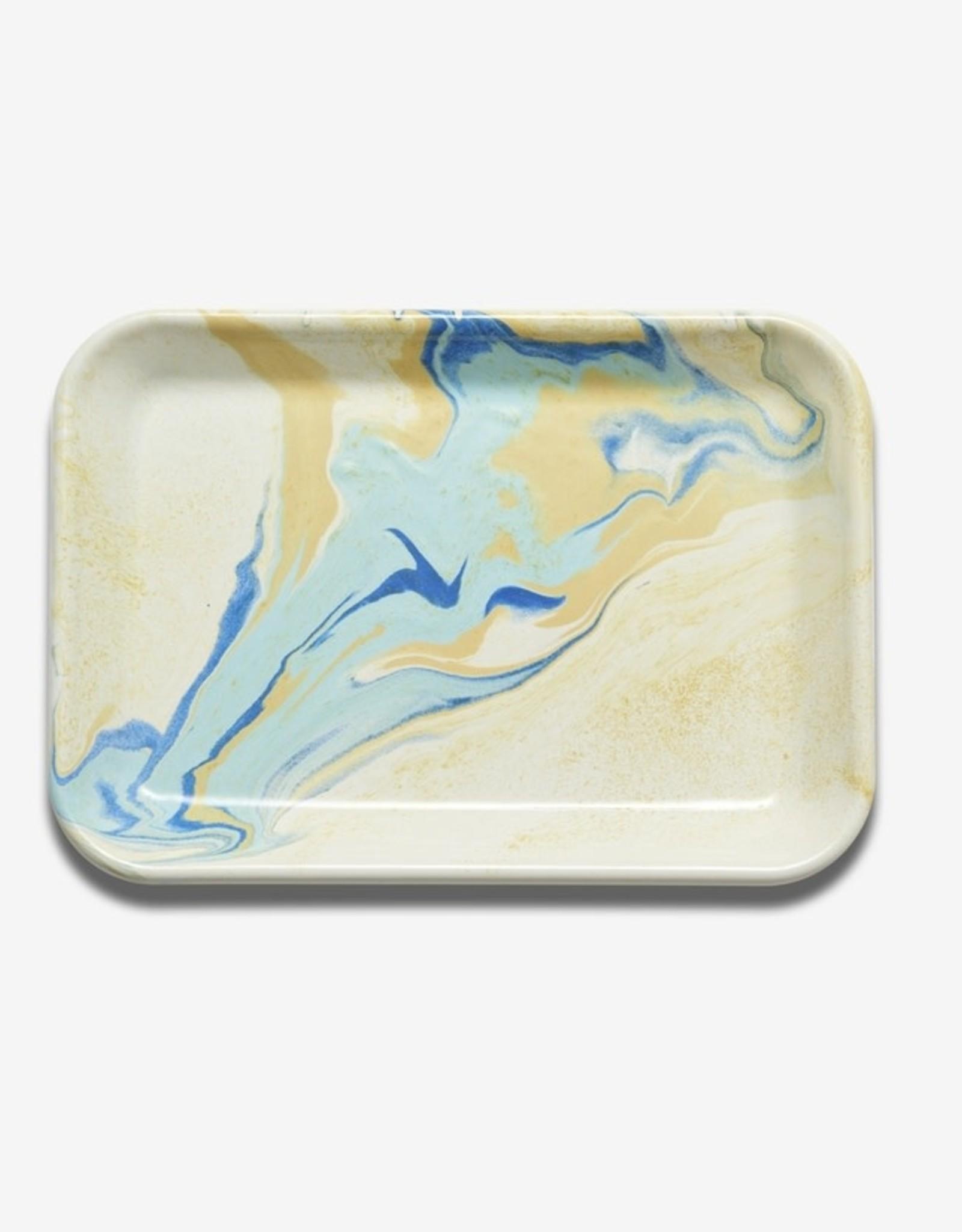 Bornn Bornn   Enamel Tray - Lemon Cream