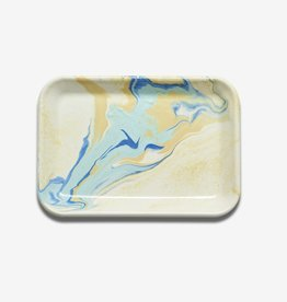 Bornn Marble Enamel Tray - Lemon Cream