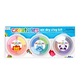 Ooly Creatibles DIY Air Dry Clay Kit - Set of 12