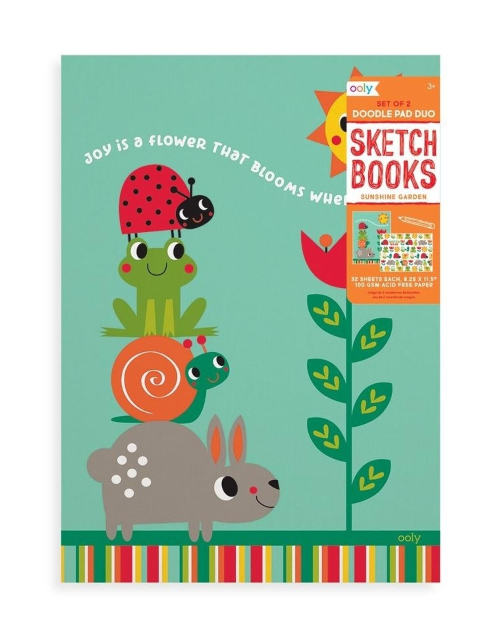 Ooly Ooly | Sunshine Garden Sketchbooks - Set of 2